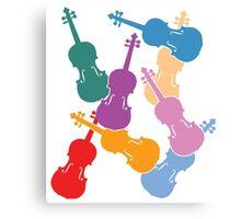 Colorful Violins Canvas Print