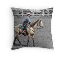 Buckskin Cowgirl Throw Pillow
