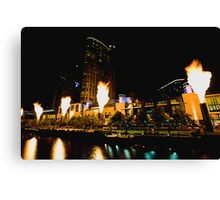 Firelight at Crown Canvas Print