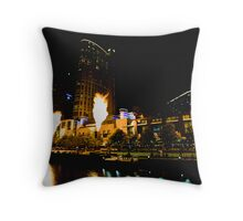 Firelight at Crown Throw Pillow