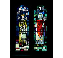 Burnsall Church stained glass window Photographic Print