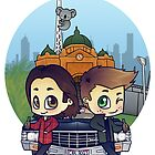 Winchesters in Melbourne by bonejangless