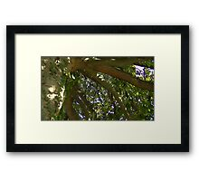 Windy Day - The Blue & The Green 010 Framed Print