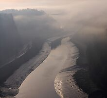 avon gorge in the mist by funkybunch