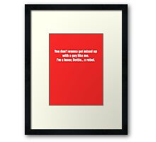 Pee-Wee Herman - Don't Wanna Get Mixed Up - White Font Framed Print