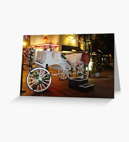 Valentine Carriage Greeting Card