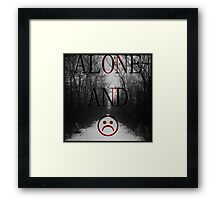 Alone And Unhappy Tee Framed Print