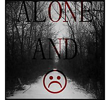 Alone And Unhappy Tee Photographic Print