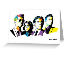 Arctic Monkeys Band Greeting Card