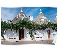 Symbols on Trulli Roofs, Puglia  Poster