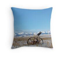 Antique Rockies Throw Pillow