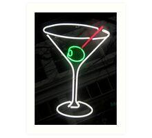 Neon Cocktail Art Print