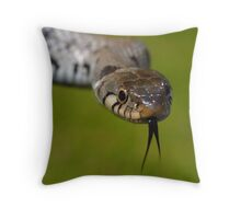 European Grass Snake Throw Pillow