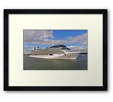 Celebrity Eclipse Cruise Ship Framed Print