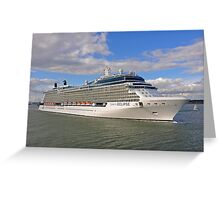 Celebrity Eclipse Cruise Ship Greeting Card