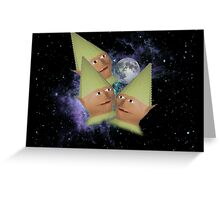 Three Elf Moon Greeting Card
