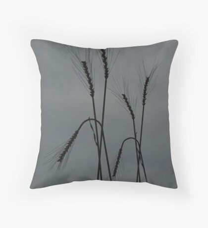 Strong Wheat Throw Pillow