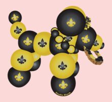 Black and Gold Dog One Piece - Short Sleeve