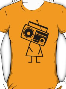 RADIO-FACE (Black) T-Shirt