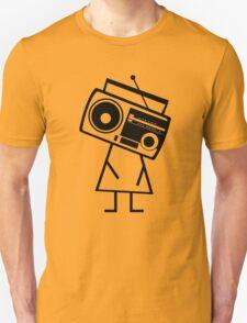RADIO-FACE (Black) Unisex T-Shirt
