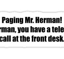 Pee-Wee Herman - Paging Mr Herman - Black Font Sticker