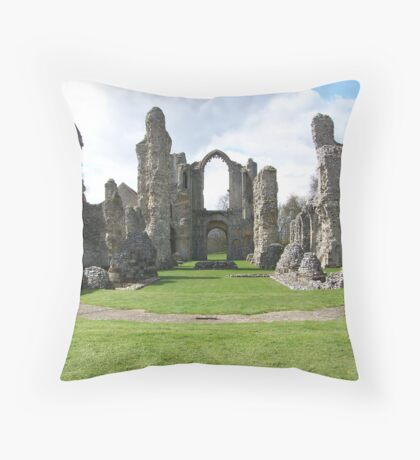 Ruined Monastry Throw Pillow