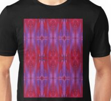 red and violet watercolor bleeds Unisex T-Shirt
