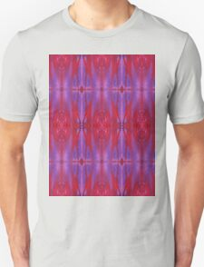 red and violet watercolor bleeds T-Shirt