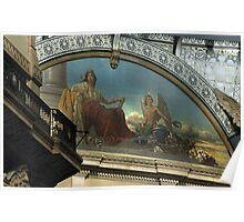 CLOSE-UP OF MURAL @ GALLERIA VITTORIO EMANUELE II, MILAN, ITALY Poster