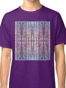 aqua and violet dripping stripes Classic T-Shirt