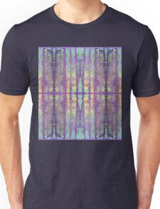 aqua and violet dripping stripes Unisex T-Shirt