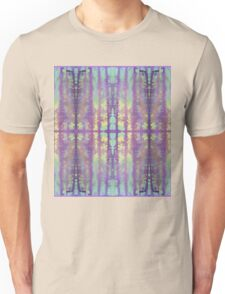 aqua and violet dripping stripes Unisex T-Shirt