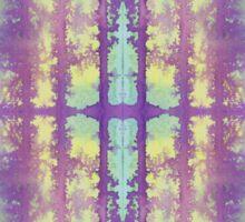 aqua and violet dripping stripes Sticker
