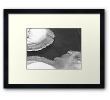 Water: Soft and Hard Framed Print