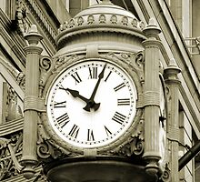 Marshall Fields Clock, Chicago by Jaymes Williams