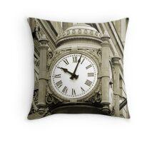 Marshall Fields Clock, Chicago Throw Pillow