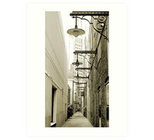 Rush Street Alley, Chicago Art Print