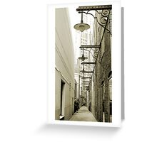 Rush Street Alley, Chicago Greeting Card