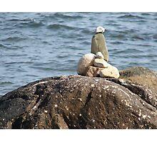 Beach Cairn Photographic Print