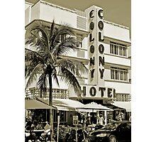 South Beach Art Deco Hotel, Miami Beach Photographic Print