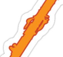 Colorful Oboe - Orange Sticker
