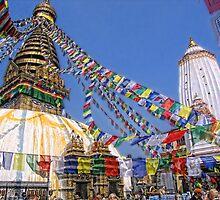 Swayambhunath stupa, Kathmandu, Nepal  by vadim19