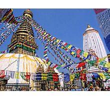 Swayambhunath stupa, Kathmandu, Nepal  Photographic Print