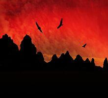 Vultures Circling the Pinnacles by Corri Gryting Gutzman