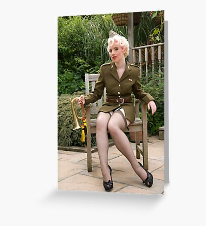 In The Army Now Greeting Card