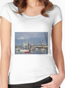 Falmouth Harbour and Docks Women's Fitted Scoop T-Shirt