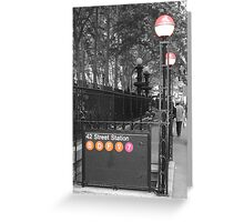 42nd St Station Greeting Card
