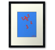 Does Whatever A Spider Can. Framed Print
