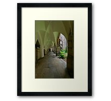 In the Cloister, the Cathedral, Meissen, Saxony, Germany Framed Print