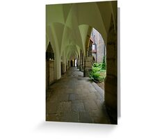 In the Cloister, the Cathedral, Meissen, Saxony, Germany Greeting Card